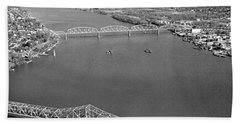 Kennedy Bridge Construction Bath Towel