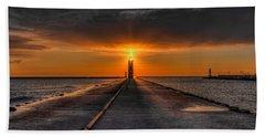 Kenosha Lighthouse Beacon Hand Towel