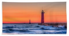 Kenosha Lighthouse Dawn Hand Towel