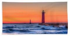 Kenosha Lighthouse Dawn Bath Towel