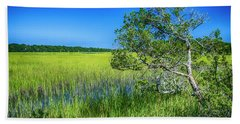 Kent Mitchell Nature Trail, Bald Head Island Hand Towel