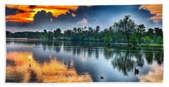 Hand Towel featuring the photograph Kentucky Sunset June 2016 by Sumoflam Photography