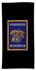 Ky Wildcats Logo T-shirt Hand Towel by Herb Strobino
