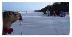 Kenya Wedding On Beach Distance Hand Towel