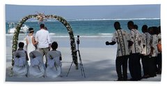 Kenya Wedding On Beach Happy Couple Bath Towel