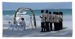 Kenya Wedding On Beach Singers Hand Towel