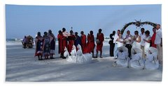 Kenya Wedding On Beach With Maasai Bath Towel