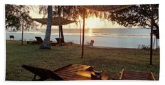 Kenyan African Beach Sunrise 2 Hand Towel