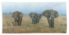 Kenyan Elephants Hand Towel