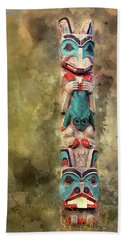 Ketchikan Alaska Totem Pole Bath Towel