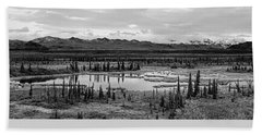 Kettle Pond And The Alaska Range Hand Towel