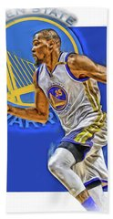 Kevin Durant Golden State Warriors Oil Art Bath Towel
