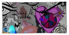Key To Energy Of Peace  Hand Towel