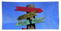 Key West 165 Miles Bath Towel