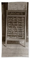 Hand Towel featuring the photograph Key West Depression Era Restaurant Specials by John Stephens