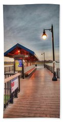 Keyport Pier At Sunset Bath Towel