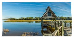Kiawah Island Boathouse Panoramic Hand Towel