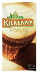 Kilkenny Draught Irish Beer Rusty Tin Sign Hand Towel