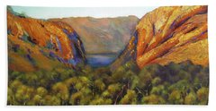 Hand Towel featuring the painting Kimberley Outback Australia by Chris Hobel