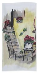 Kimberly's Castellabate Flowers Hand Towel