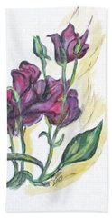 Kimberly's Spring Flower Hand Towel by Clyde J Kell