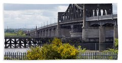Bath Towel featuring the photograph Kincardine Bridge by Jeremy Lavender Photography