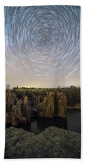 King And Queen Star Trails Hand Towel