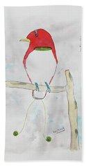 King Bird Of Paradise Hand Towel