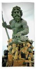 Bath Towel featuring the photograph King Neptune Statue by Patti Whitten
