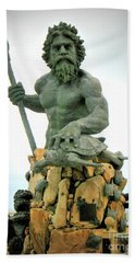 King Neptune Statue Bath Towel