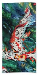 King Of The Pond Hand Towel