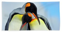 King Penguin Bath Towel by Tony Beck