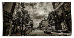 King St. Storm Clouds Charleston Sc Hand Towel
