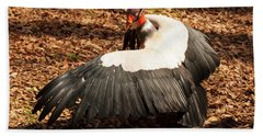 King Vulture 4 Strutting Hand Towel by Chris Flees