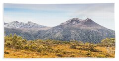 King William Range. Australia Mountain Panorama Bath Towel