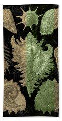 Hand Towel featuring the digital art Kingdom Of Golden Seashells by Serge Averbukh