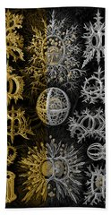 Hand Towel featuring the digital art Kingdom Of Silver Single-celled Organisms  by Serge Averbukh