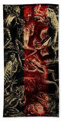 Hand Towel featuring the digital art Kingdom Of The Golden Amphibians by Serge Averbukh