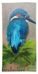 Kingfisher Bird Hand Towel
