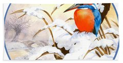 Kingfisher Plate Hand Towel by John Francis
