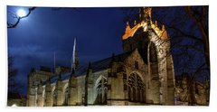 King's College In The Moonlight Bath Towel