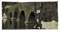 Kingston Bridge Woodprint Bath Towel