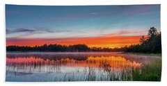 Kingston Lake Sunset Hand Towel