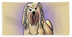 Kiniart Lhasa Apso Braided Bath Towel
