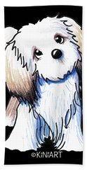Kiniart Lhasa Apso Bath Towel