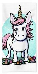 Kiniart Unicorn Sparkle Hand Towel by Kim Niles