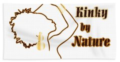 Kinky By Nature Hand Towel by Rachel Natalie Rawlins