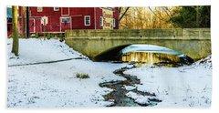 Kirby's Mill Landscape - Creek Bath Towel