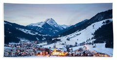 Kirchberg Austria In The Evening Bath Towel