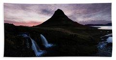 Kirkjufell Mountain Bath Towel
